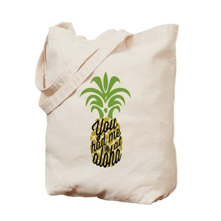 CafePress - You Had Me At Aloha - Natural Canvas Tote Bag, Cloth Shopping Bag