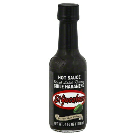 (2 Pack) El Yucateco Black Label Reserve Chile Habanero Hot Sauce, 4