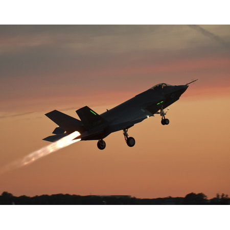 Canvas Print Military Fighter Jet Flight F-35 Lightning Ii Test Stretched Canvas 10 x (Jet 2 Flights)