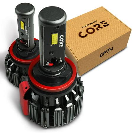 (OPT7 Fluxbeam Core H11 H8 H9 H16 LED Headlight Kit Bulbs - 60w 6,000LM 6K Cool White CREE - 1 Year Warranty)
