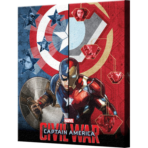 Pyramid America Captain America: Civil War Split Screen Canvas Wall D cor