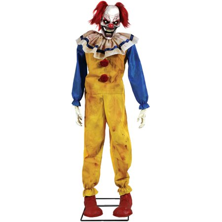 Twitching Clown Animated Prop Halloween Decoration - Animated Halloween Clip Art