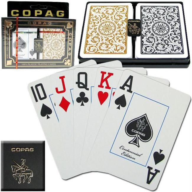 Copag Poker Size Jumbo Index - 1546 Black*Gold Setup