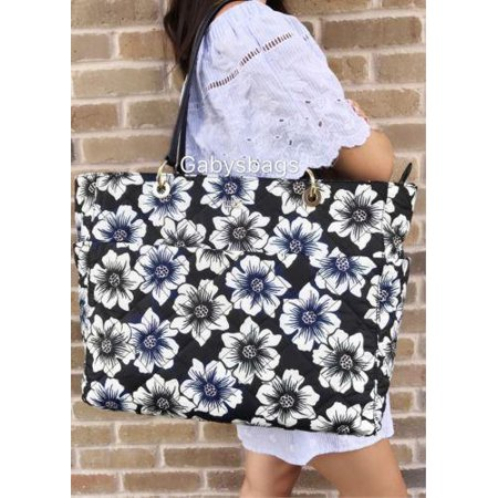 NWT Kate Spade Emerson Place Nylon Pauline Quilted Baby Tote Bag Diaper Floral (Baby Diaper Bag Kate Spade)