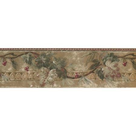 Retro Art Fl Cherry Blossom Flowers 15 L X 7 W Wallpaper Border