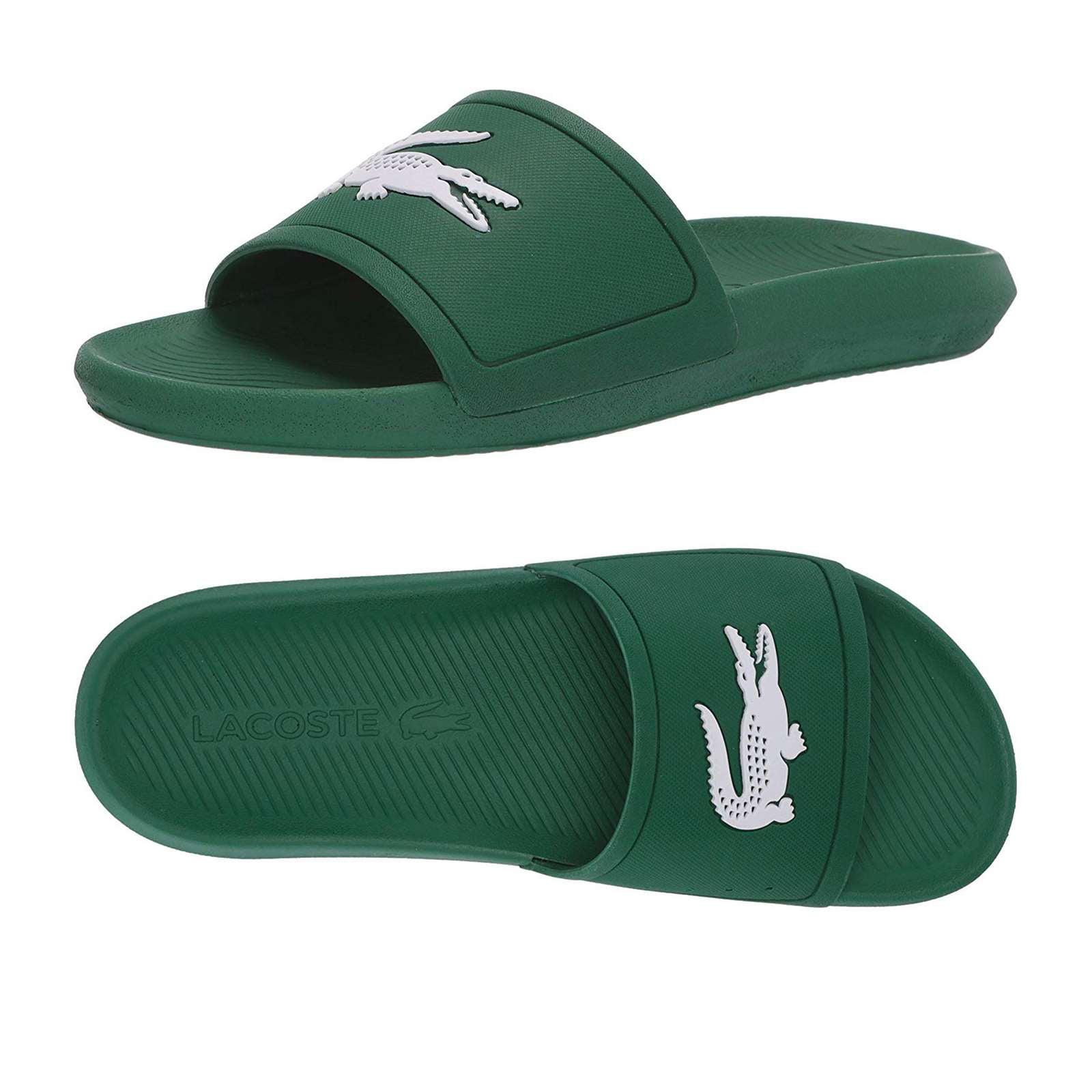 Lacoste Men Croco Slide Sandals