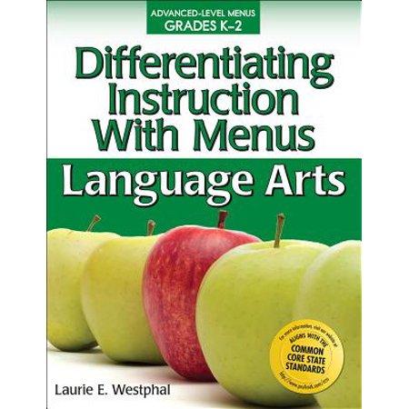 Differentiating Instruction with Menus: Language Arts (Grades K-2) (Menus Language Arts)