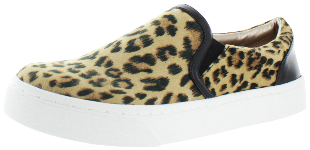 Luichiny Vay Kay Women's Slip On Fashion Sneakers Shoes Assorted Prints Leopard by Luichiny