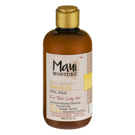Maui Moisture Coconut Oil Curl Milk, 8.0 FL OZ