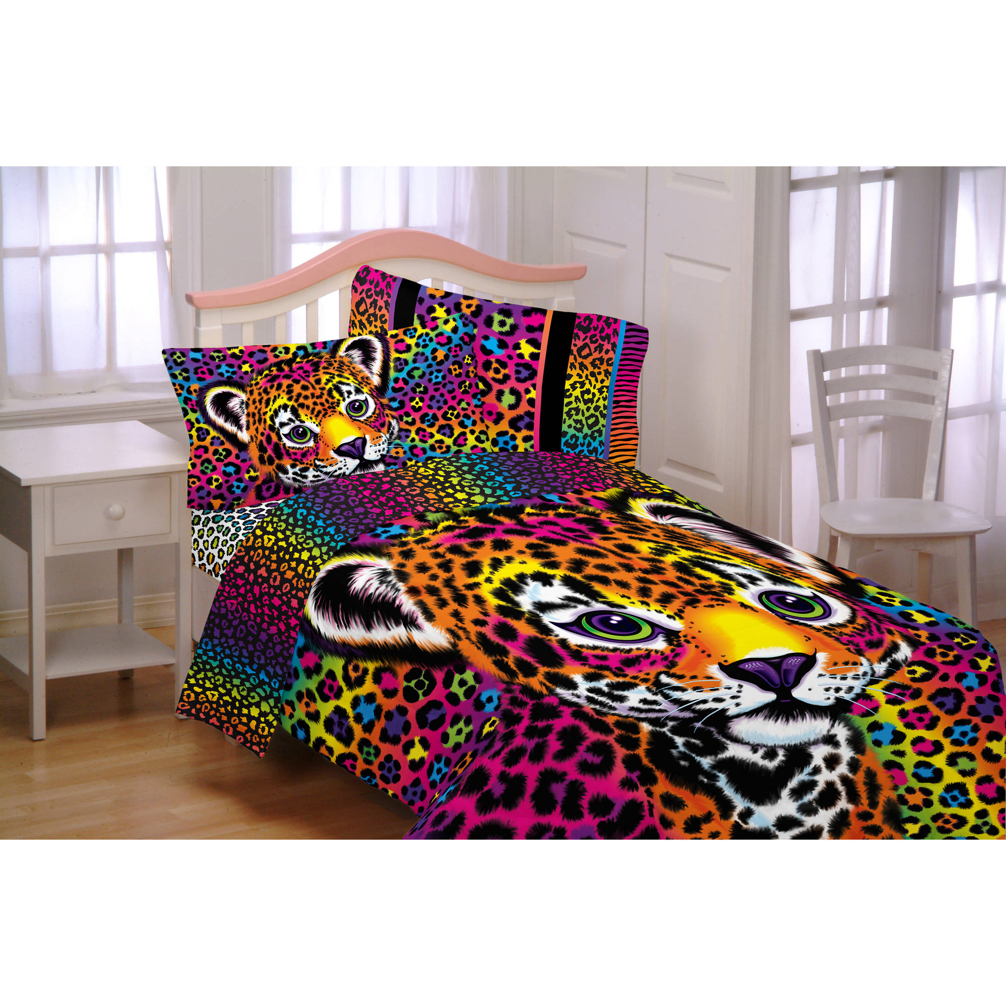 Bedding sets for teenage girls walmart - Lisa Frank Wildside Microfiber Reversible Twin Full Bedding Comforter