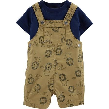 Carters Baby Boys Lion Shortalls Set - Lion Outfit