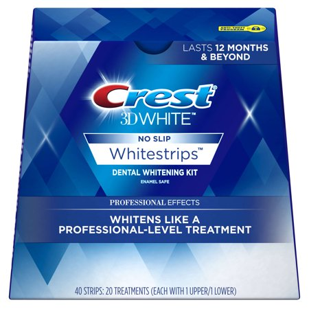 Crest 3D White Professional Effects Whitestrips Teeth Whitening Strips Kit, 20 - Dental Whitening Formula 40 Strips