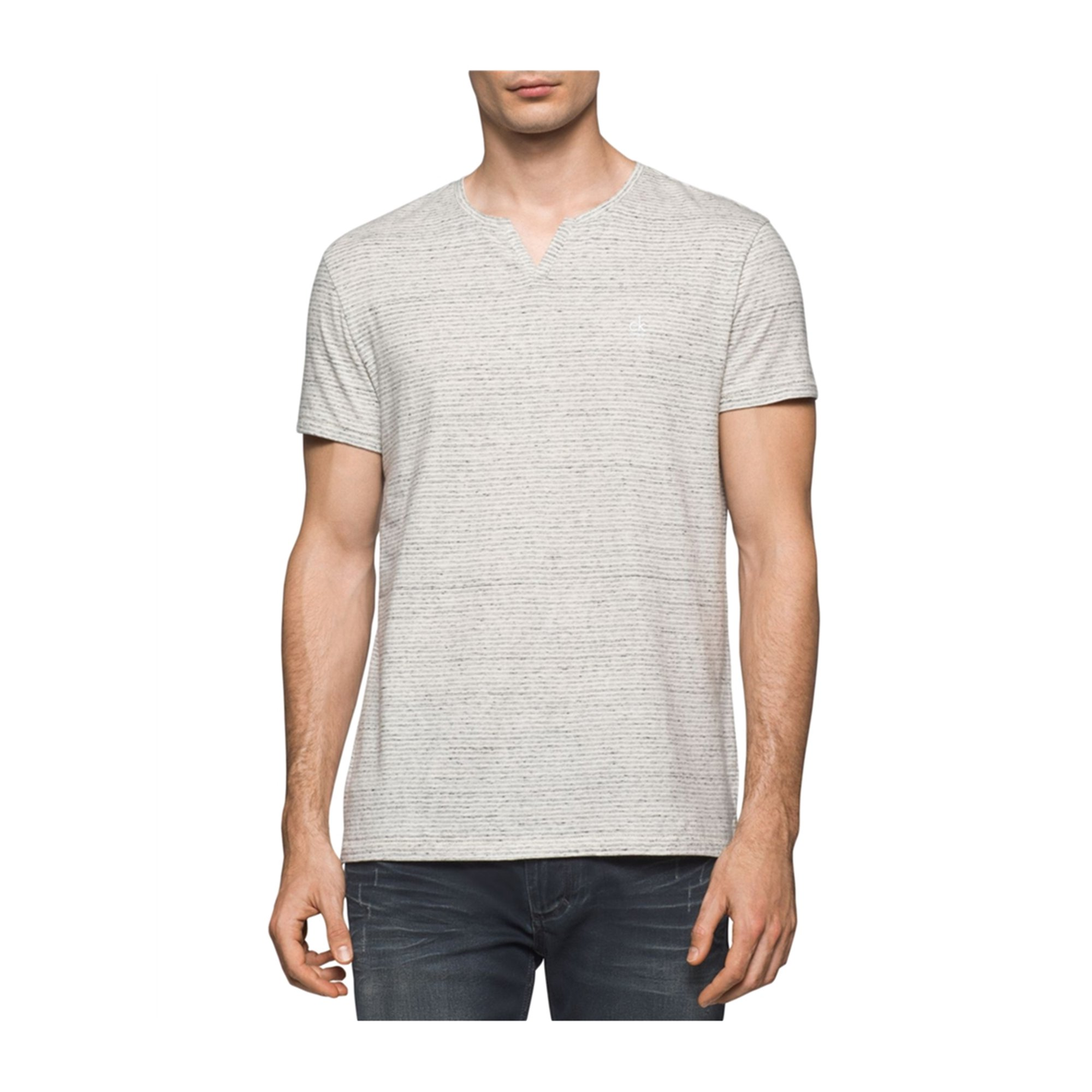 09999362e4a8 Calvin Klein Mens Heathered Striped Embellished T-Shirt white 2XL | Walmart  Canada