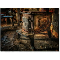 "Trademark Fine Art ""Liberty Wood Stove"" Canvas Art by Lois Bryan"