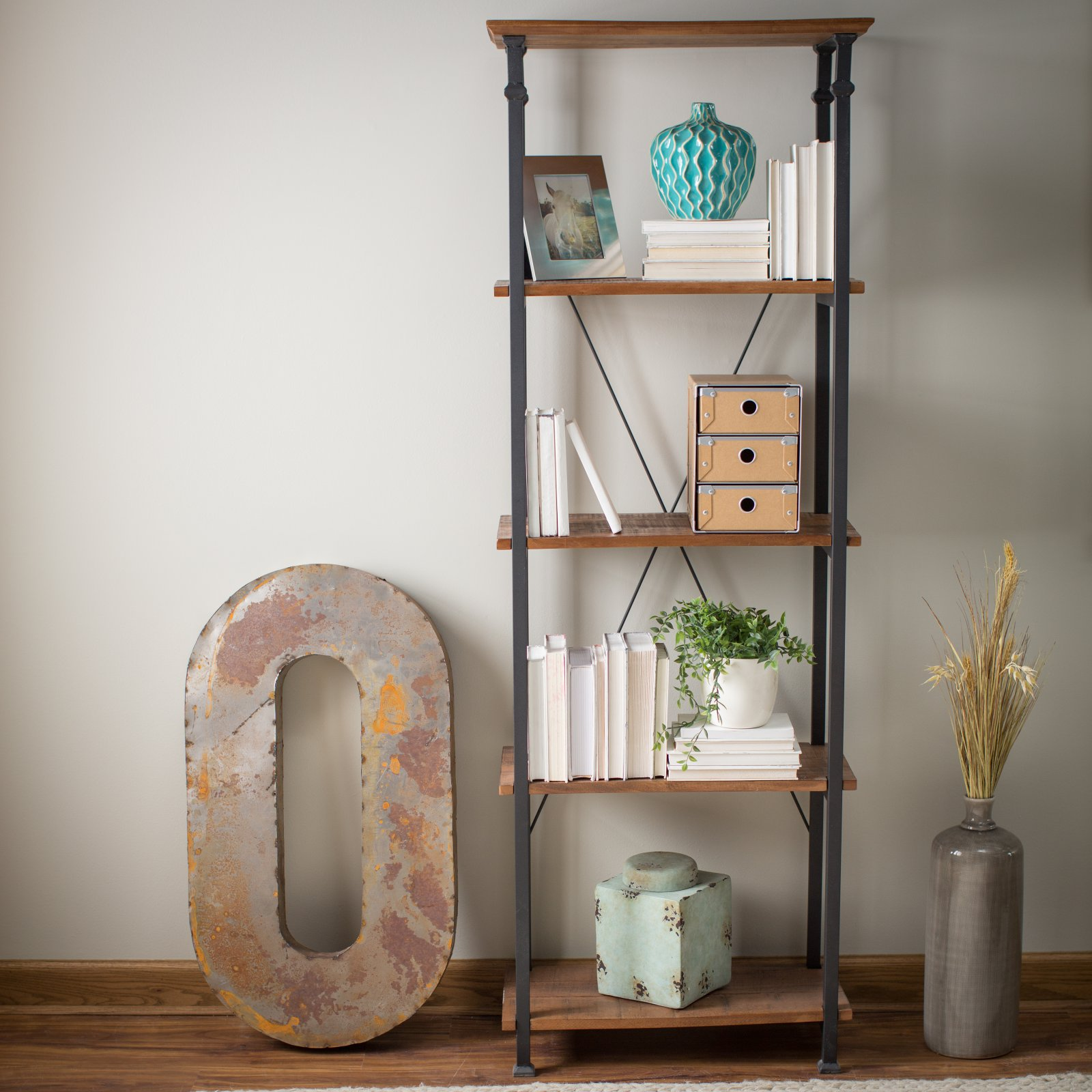 Weston Home Clayton Small Bookcase
