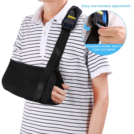 HURRISE Universal Arm Sling Adjustable Soft Padded Shoulder Strap for Adults Unisex (Shoulder Sling)