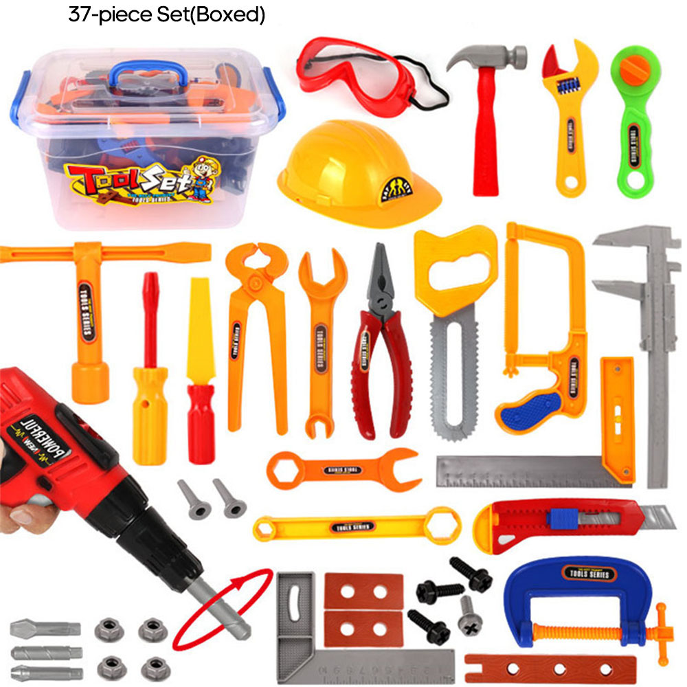 Wooden Tool Box Set for Kids Wooden Toddler Toy Set 19 Pieces Red, Yellow, Green, Blue,Great Gift for Toddlers, Boys and Girls - Best for 3, 4, 5, and 6 Year Olds Ivy-1