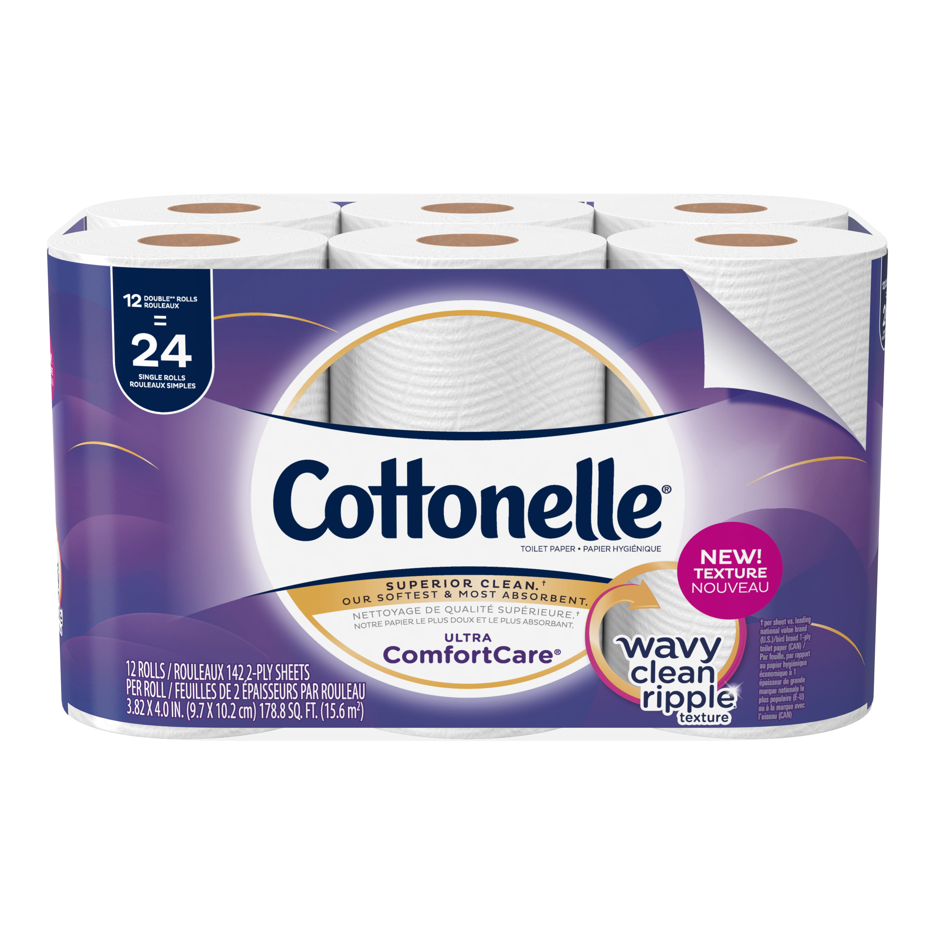 Cottonelle Ultra Comfort Care, 12 Double Rolls, Toilet Paper by Kimberly-Clark Corporation