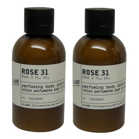 Le Labo Rose 31 Body Lotion lot of 2 each 3 Oz bottles. Total of 6 Oz