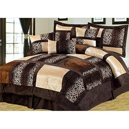 Empire Home Safari 7 Piece Brown Full Size Comforter Set