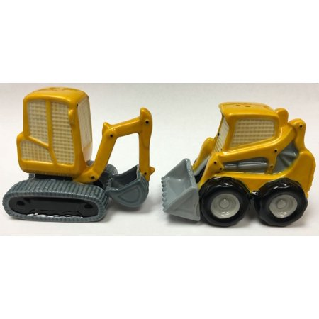 Yellow Construction Machine Vehicles Ceramic Salt and Pepper Shakers 20771 New
