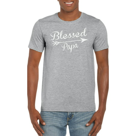Blessed Papa Arrow Graphic T-Shirt Gift Idea for (Arrow Mens Shirt)