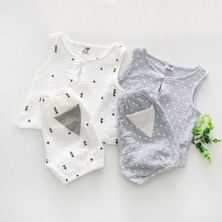 1feb7809f6ce Bobora - Bobora 2pcs Newborn Toddler Kids Baby Boys Girls Summer ...