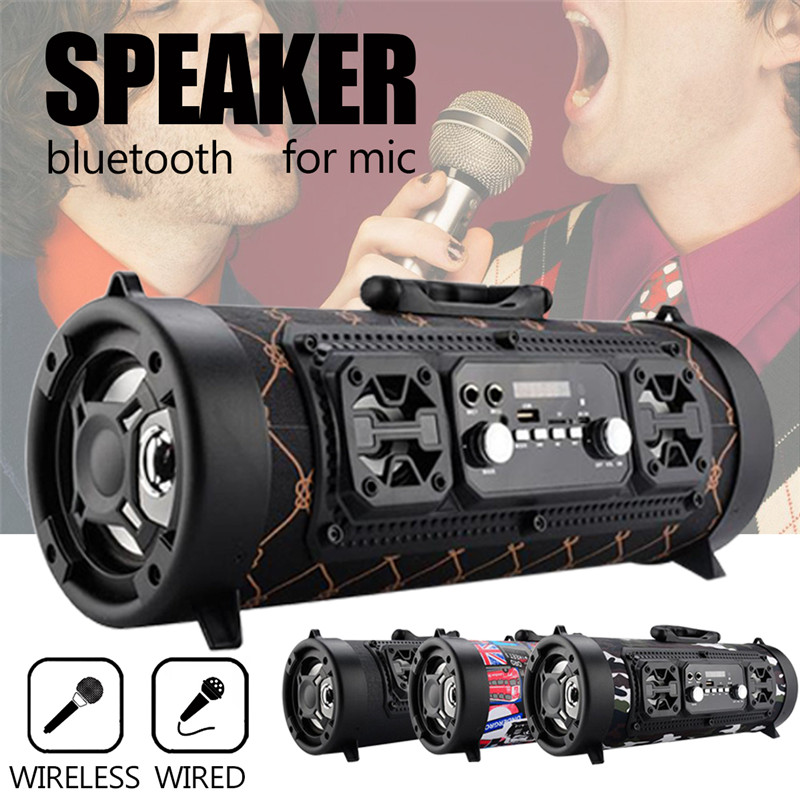 Rugged Portable Indoor/Outdoor HIFI Cylinder Wireless Bluetooth Speaker Subwoofer