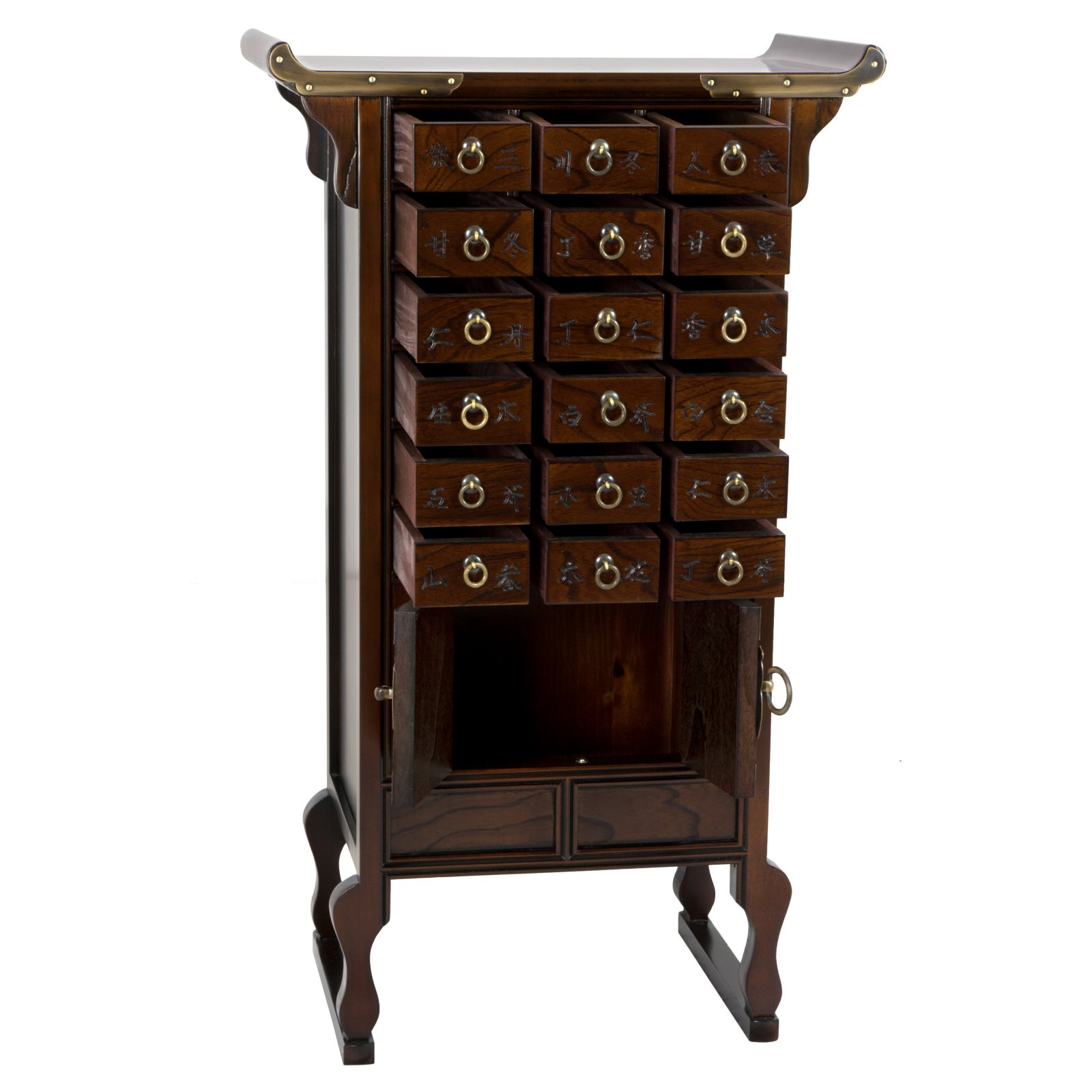 Oriental Furniture Korean Style 18 Drawer Herbal Medicine Apothecary Chest Walmart Com Walmart Com