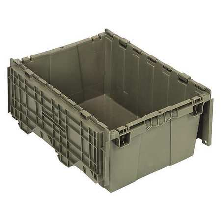 Quantum Storage Systems 125 lb Capacity, Attached Lid Container, Gray QDC2115-9