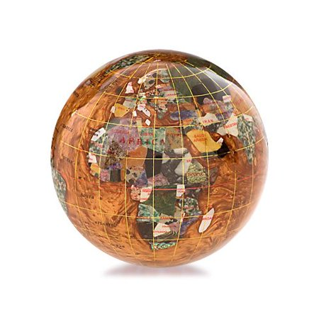 Amber Paperweight - Bloomsbury Market Gussie Gemstone Globe Paperweight with Opalite Ocean