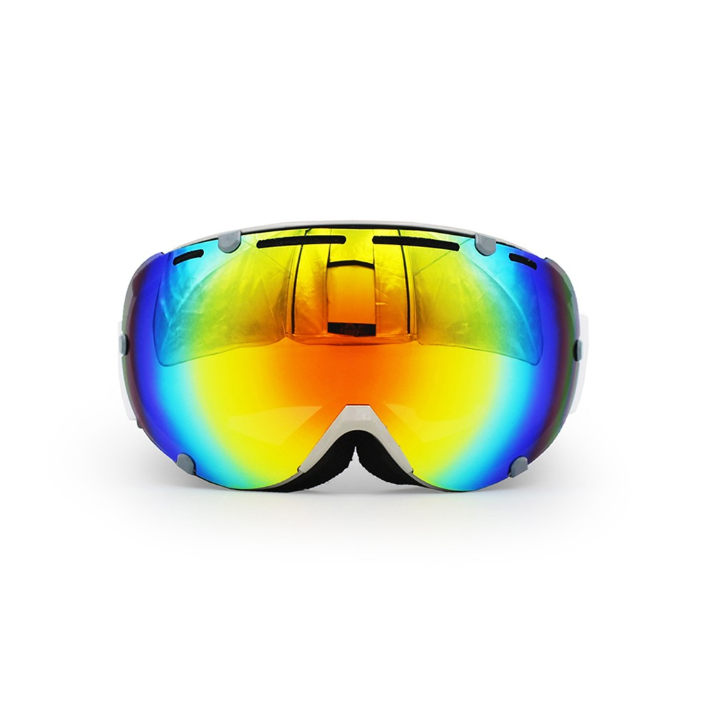 Ediors Mirror Dual Lens Snowboard Ski Goggles with Anti-Fog Lens Eyewear by Ediors