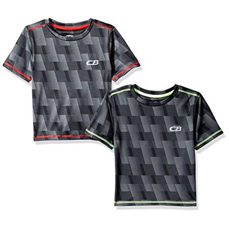 CB Sports Little Boys 2 Pack Performance T-shirt, 2 Pack -Red/Lime -SK53, 4 - image 1 of 1