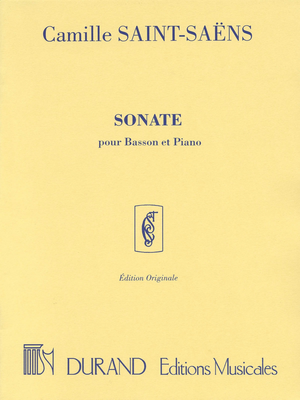 Editions Durand Sonata, Op. 168 (for Bassoon & Piano) Editions Durand Series Composed by... by Editions Durand