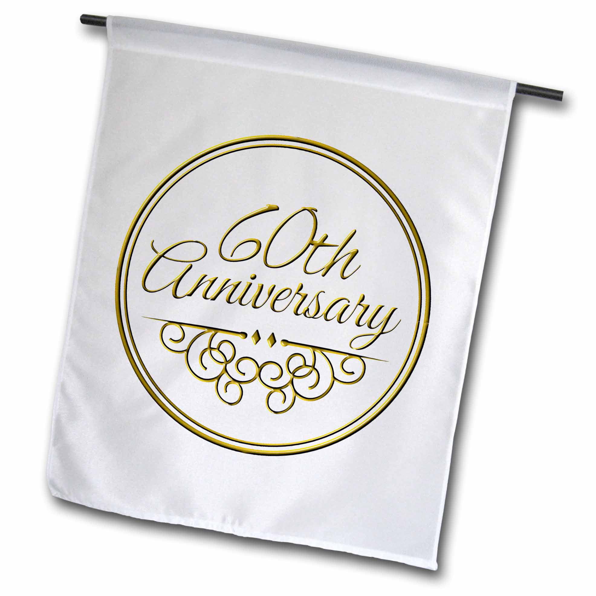 3 Wedding Anniversary Gift: 3dRose 60th Anniversary Gift