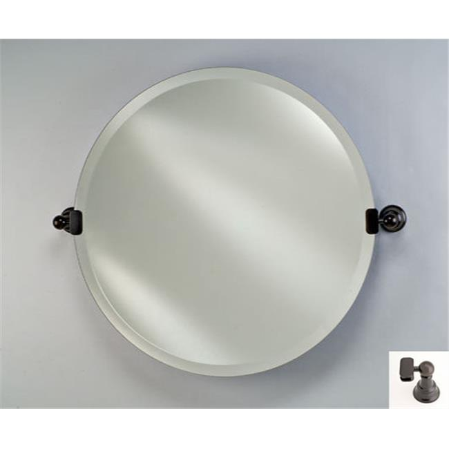 Afina Corporation RM-418-OB 18 in.Radiance Tilt Round Mirror Oil Rubbed Bronze by