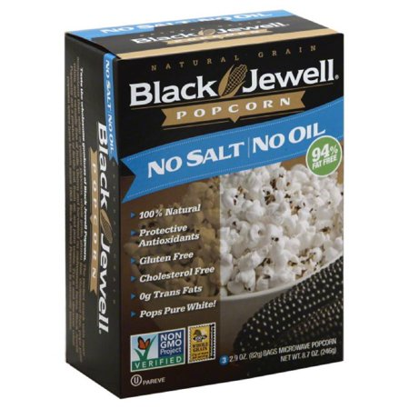 Black Jewell No Oil No Salt Microwave Popcorn, 8.7 Oz (Pack of (Best Oil For Popping Popcorn)