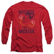 Mighy Mouse Break The Box Mens Long Sleeve Shirt