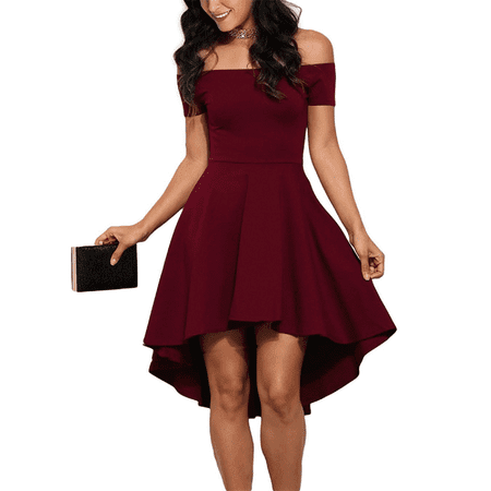 Valentine's Day Gift For Women, Women's Off Shoulder Short Dress for Women, Elegant Cocktail Party Dreses for Fall / Winter, S-XL - Tween Winter Dresses