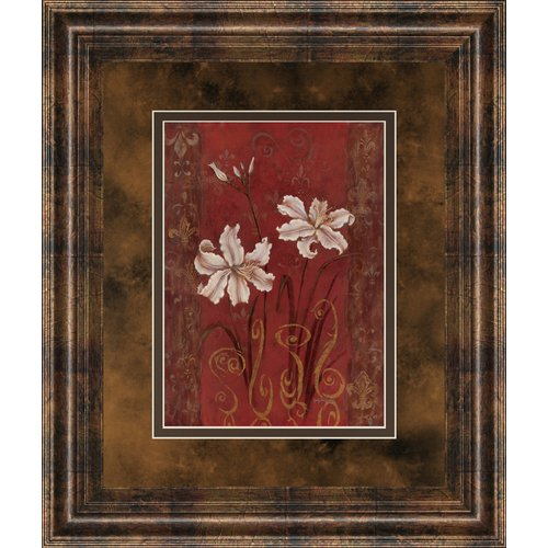 Classy Art Wholesalers Lily Design by Judy Mastrangelo Framed Painting Print by Classy Art Wholesalers