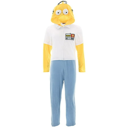 Homer Simpson Adult Hooded Union Suit Pajamas](Cool Onesies For Adults Uk)
