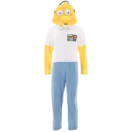 Homer Simpson Adult Hooded Union Suit Pajamas](Fashionable Onesies For Adults)