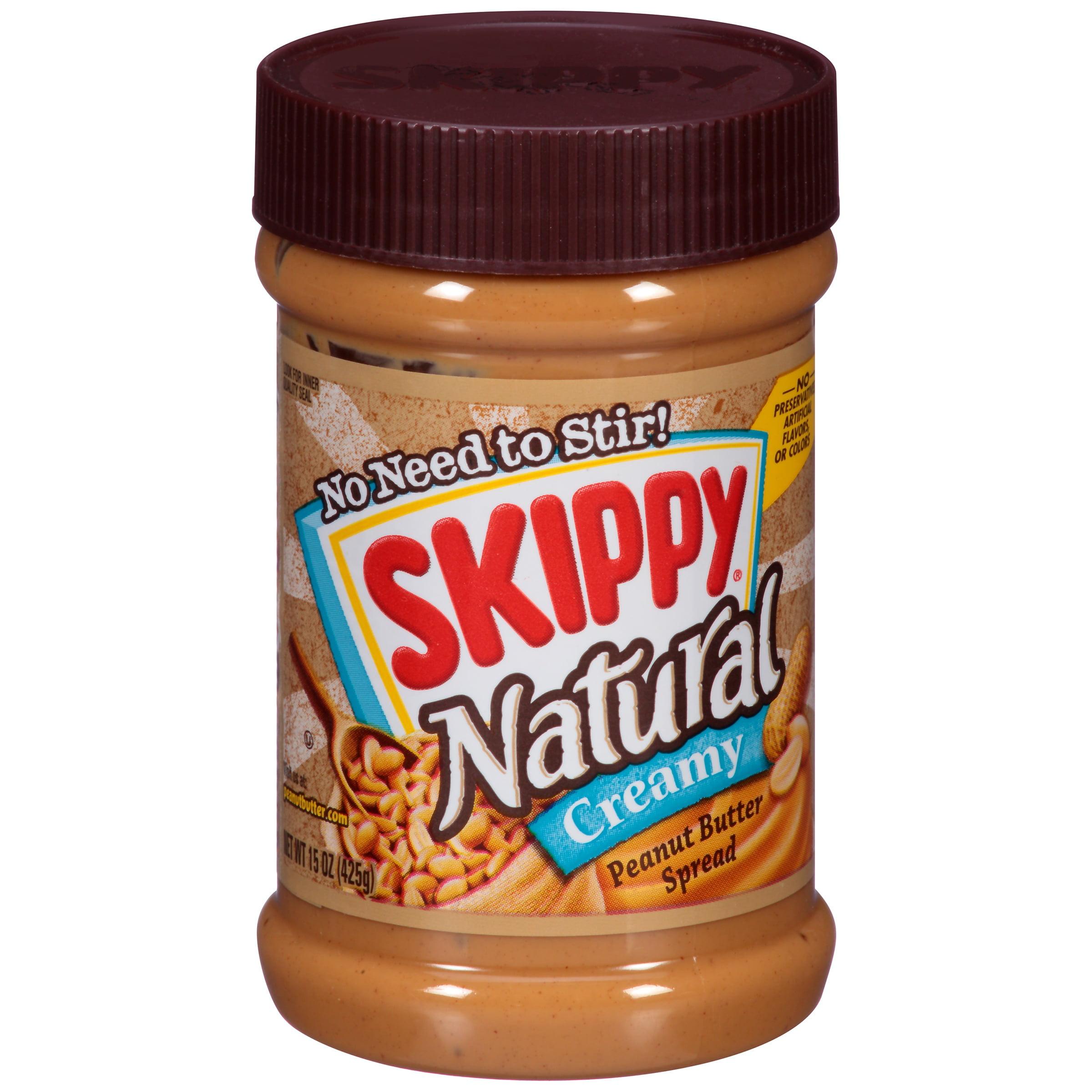 Skippy Natural Creamy Peanut Butter, 15 oz