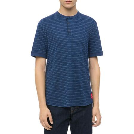 a7c57b9a Calvin Klein Jeans - Slim-Fit Striped Henley T-Shirt - Walmart.com
