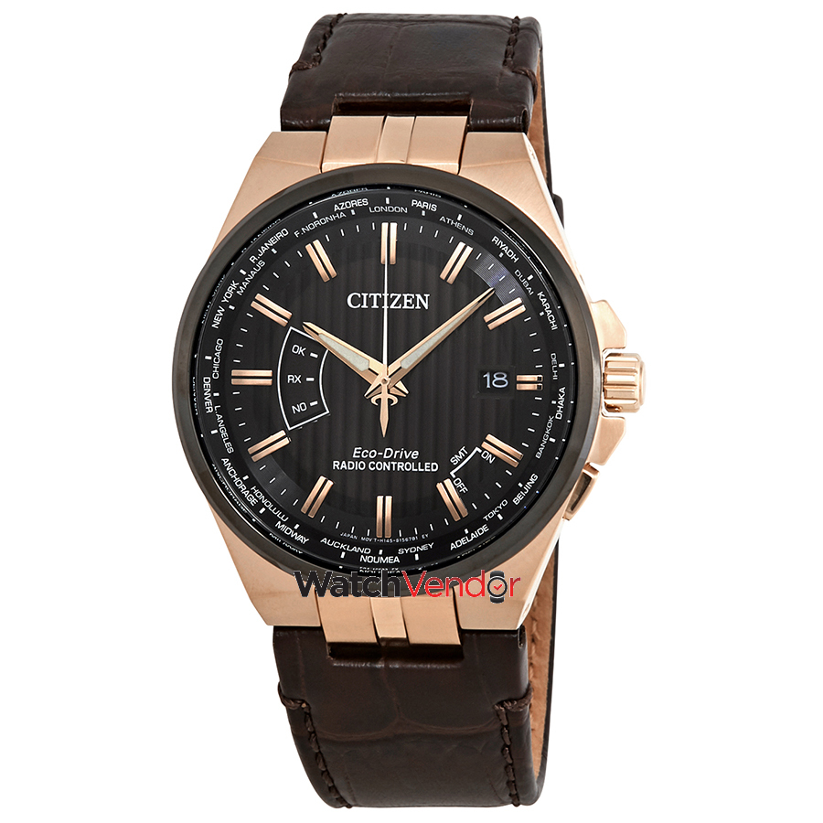 Citizen World Perpetual A-T World Time Black Dial Men's Watch CB0168-08E - image 3 de 3