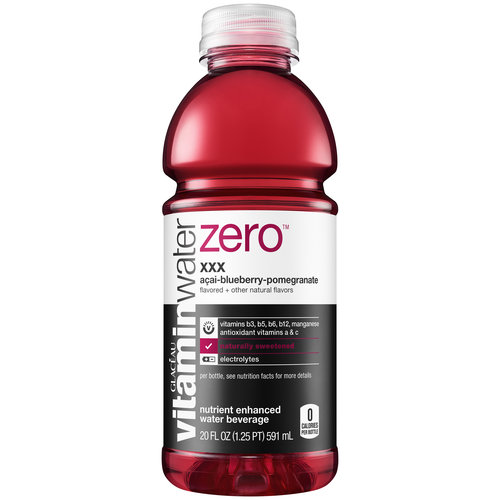 Glaceau Zero Vitamin Water XXX Acai-Blueberry-Pomegranate, 20 oz