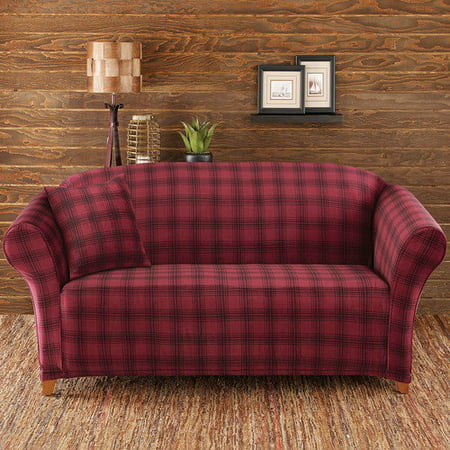 Sure fit stretch belmont sofa slipcover - Plaid para sofa ...