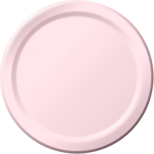 Creative Expressions 9'' Dinner Plates - 24-Pack, Classic Pink