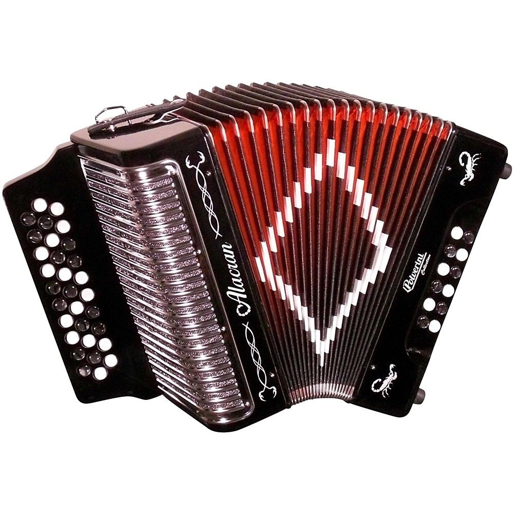 Alacran Accordion AL3112 Black with Case GCF