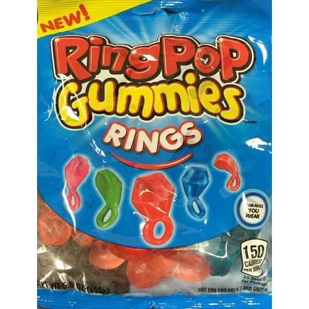 Ring Pop Gummies Anneaux, 6 oz